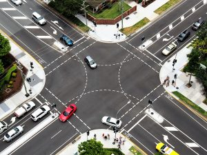 aerial photography of cars on road during daytime
